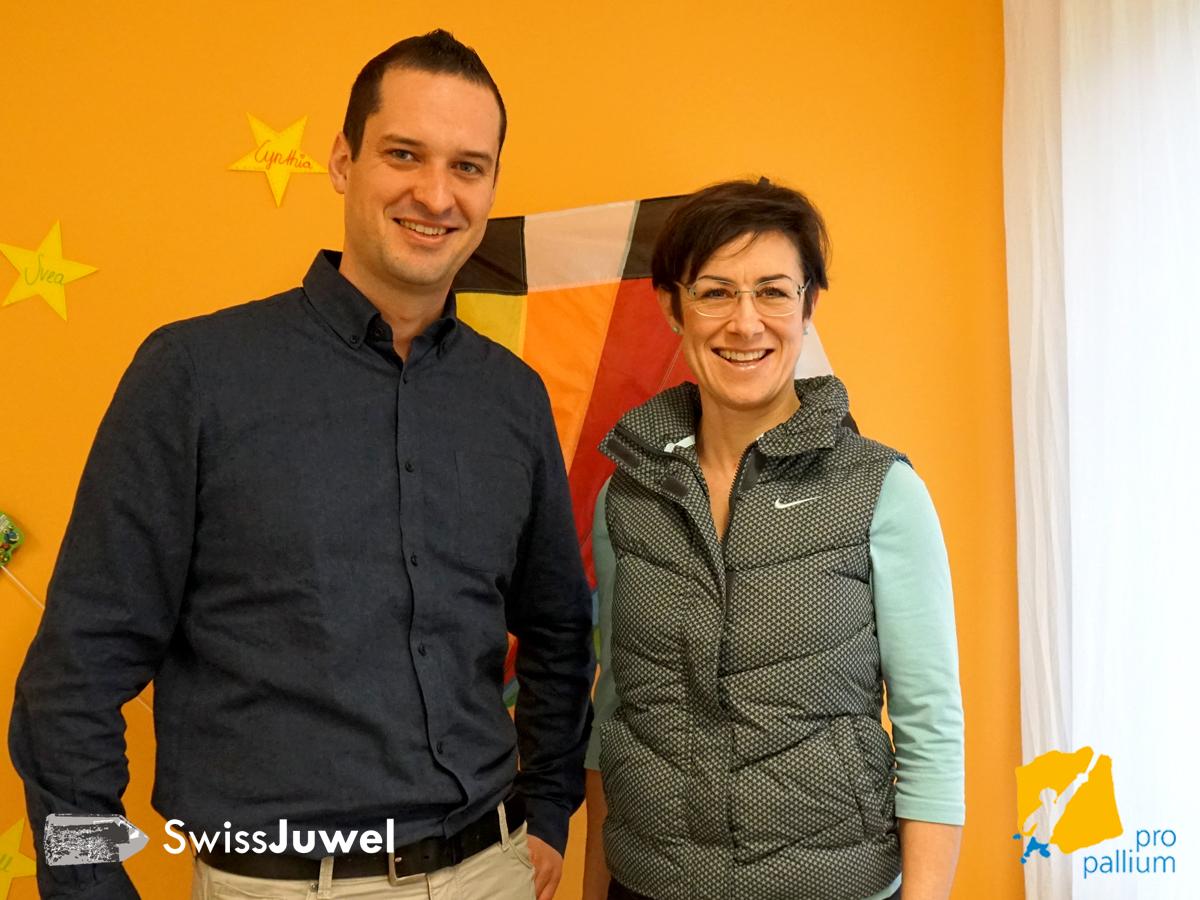 links: Daniel Friedli - SwissJuwel, rechts: Susanne Wicki - pro pallium